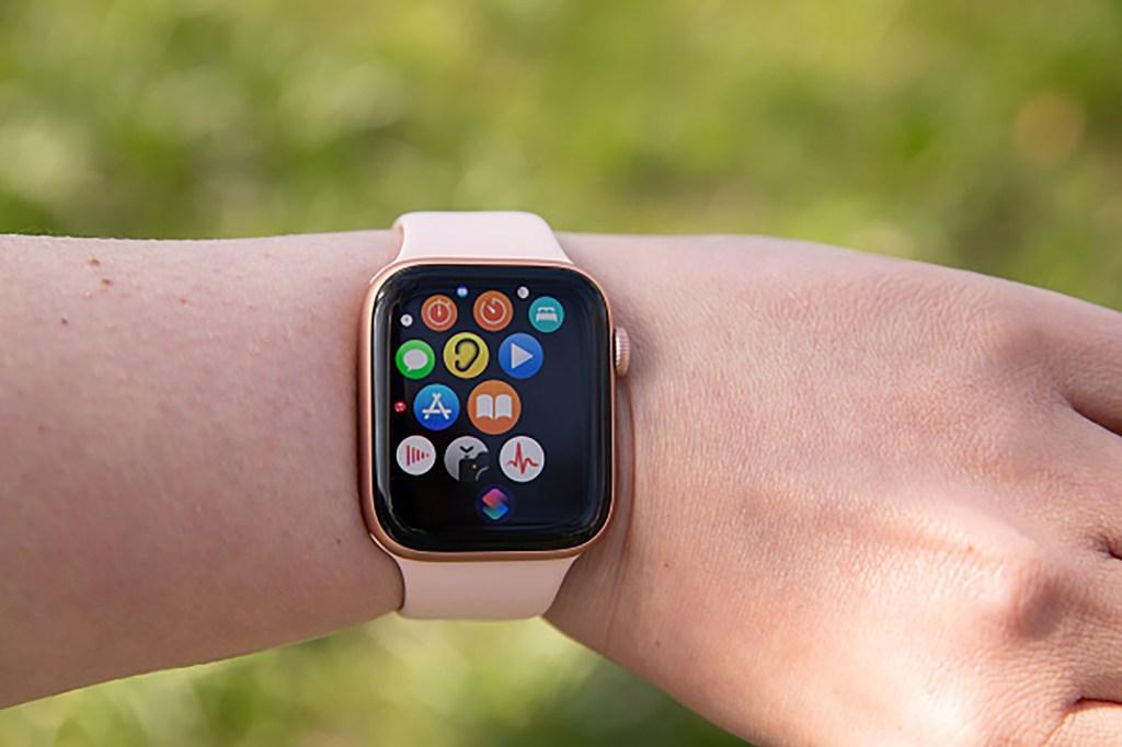 An Apple Watch on someone's wrist
