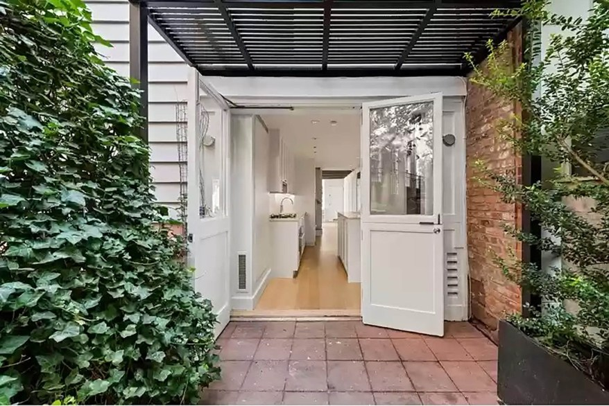 """""""There is a secret courtyard area with a garden, and that is is actually my favorite part,"""" said listing broker Hanna Oh of Nest Seekers International, Williamsburg."""