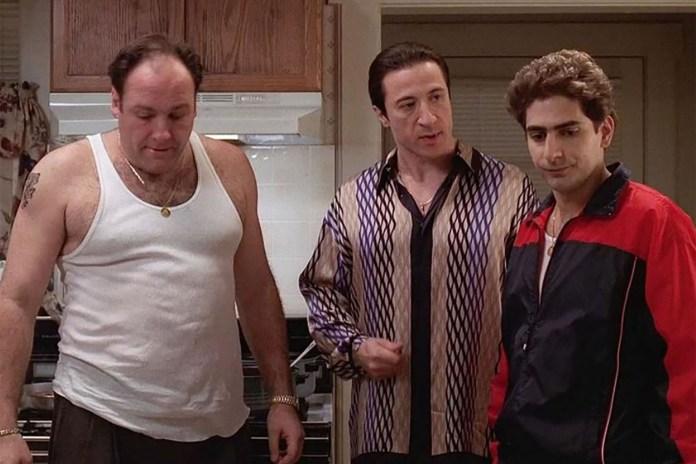 "Michael Imperioli as Christopher Moltisanti  and James Gandolfini as Tony Soprano and Federico Castelluccio as Furio Giunta in a scene from HBO's hit television series, ""The Sopranos."""