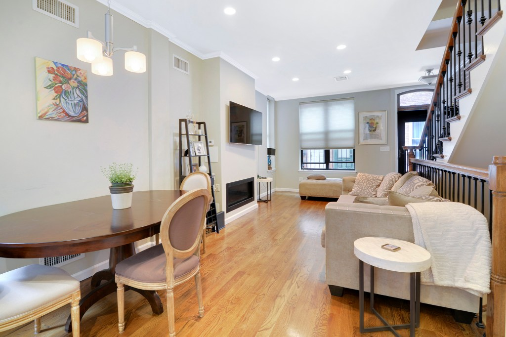 2 Sylvan Court comes renovated, and includes an open living and dining area.
