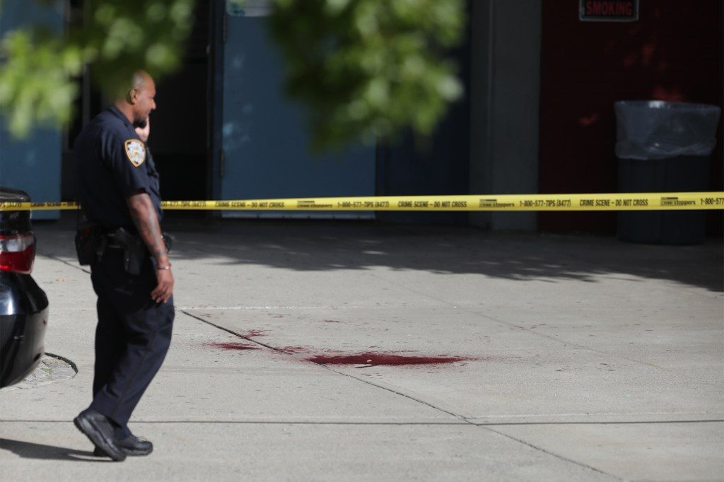 A 14-year-old boy and girl were stabbed outside Harry Truman High School in the Bronx Wednesday, Sept. 29, 2021. (Photo by Hakim Gibson)