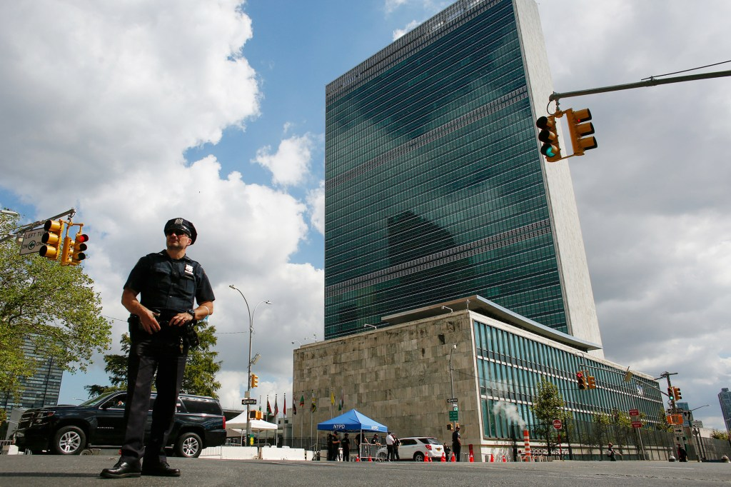 The alleged threats from the New York man come as the United Nations General Assembly takes place this week.