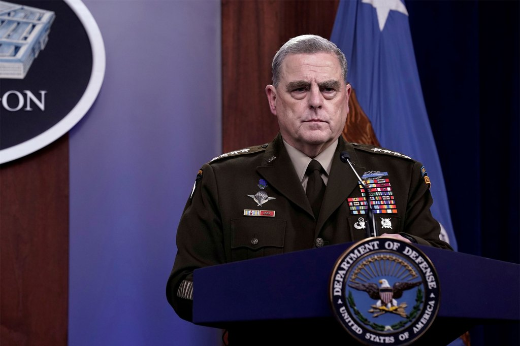 Joint Chiefs of Staff Chairman Army General Mark Milley