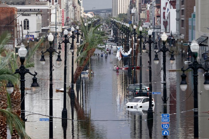 Canal Street after Hurricane Katrina