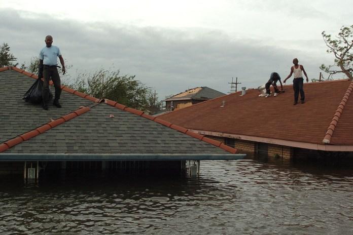 Lower Ninth Ward residents stranded during Hurricane Katrina