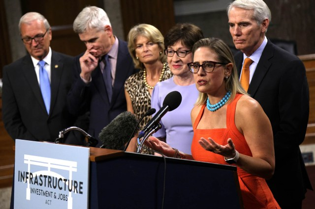 """Sen. Sinema says the cancelation of the vote """"betrays the trust of the American people."""""""