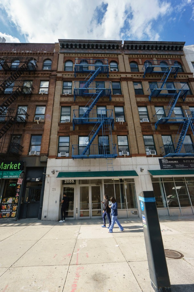 An exterior shot of Andersson's Harlem apartment building.