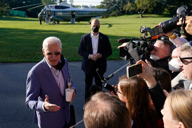 President Joe Biden urged unvaccinated Americans to get the shot on Oct. 2, 2021.