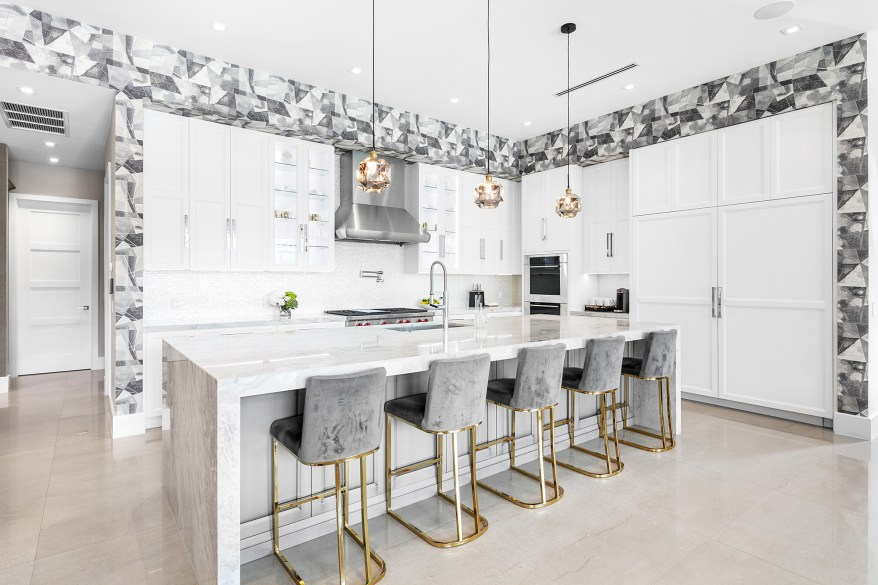 """""""The water-facing kitchen with an entertainment island is easily one of the best spaces in the home,"""" said Carroll."""