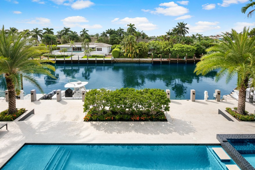 The 0.29-acre lot has a heated salt water pool.