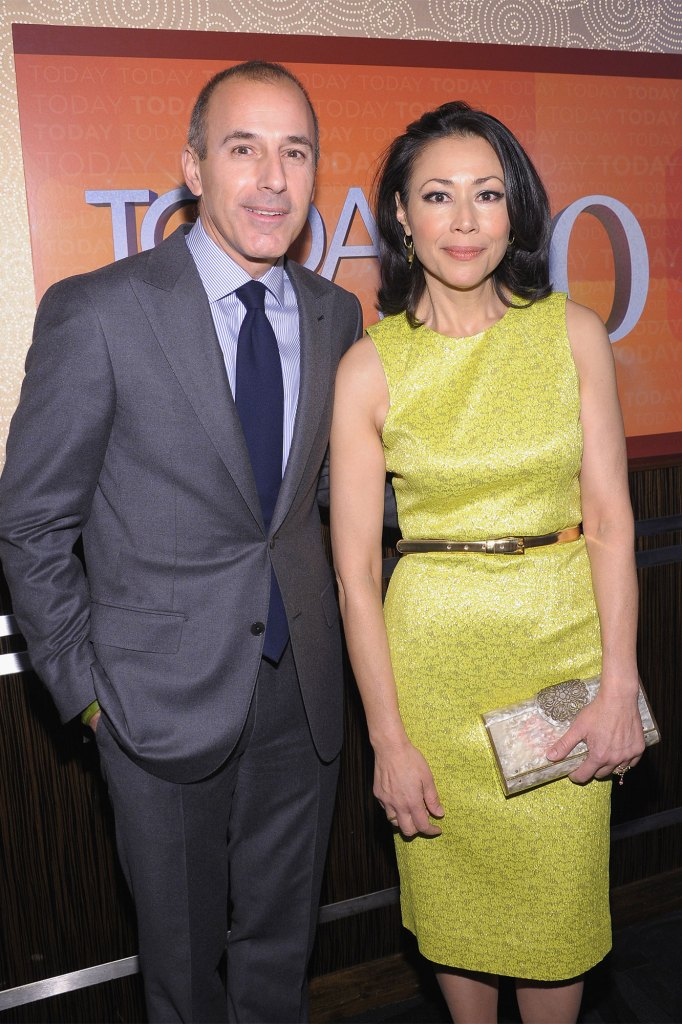 """Matt Lauer and Ann Curry attend the """"TODAY"""" Show 60th anniversary in 2012."""