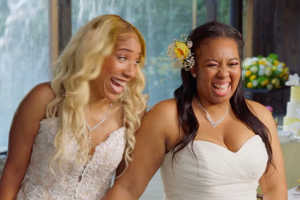 Herbert (left) had no clue Taylor was surprising her with a wedding officiated by  Cardi B.