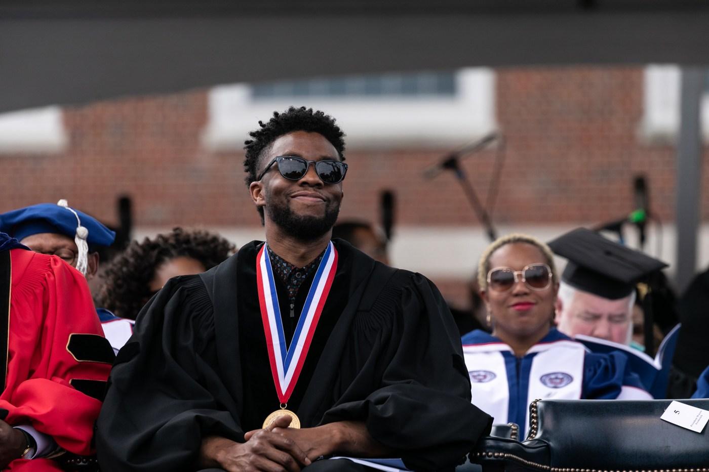 Chadwick Boseman at Howard University 2018  Spring Commencement
