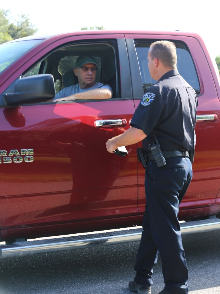 Christopher Laundrie is seen arriving to the park this morning to meet Police.