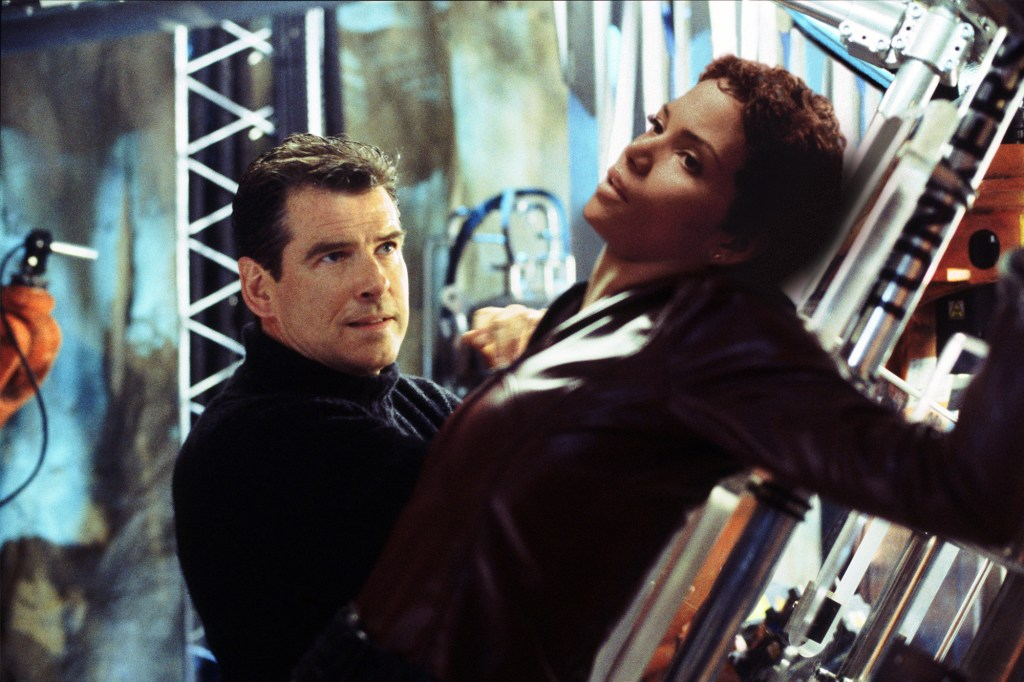 """Pierce Brosnan and Bond girl Halle Berry in """"Die Another Day."""""""