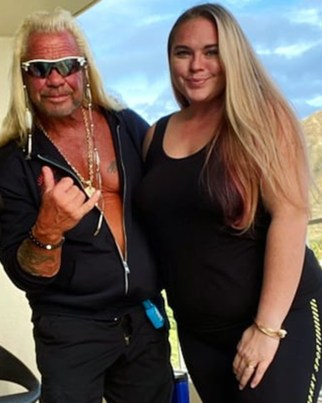 Dog the Bounty Hunters' estranged daughter Cecily Chapman (right) who claims the entire search is a publicity stunt.