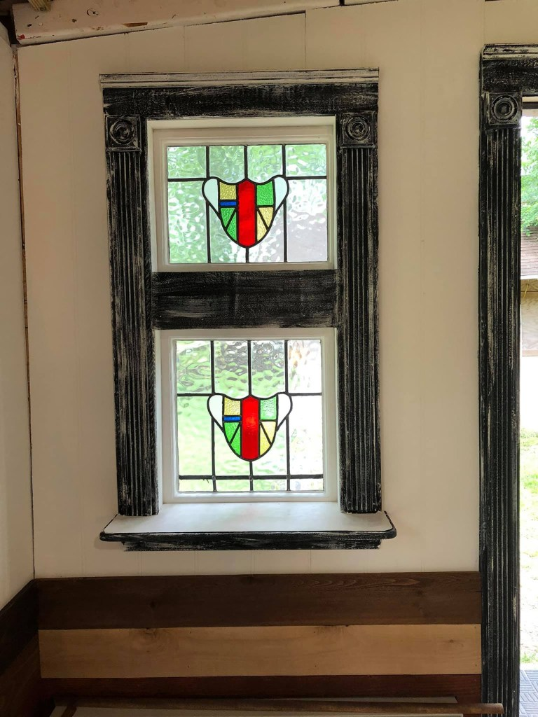 They spent $100 on stained-glass windows.