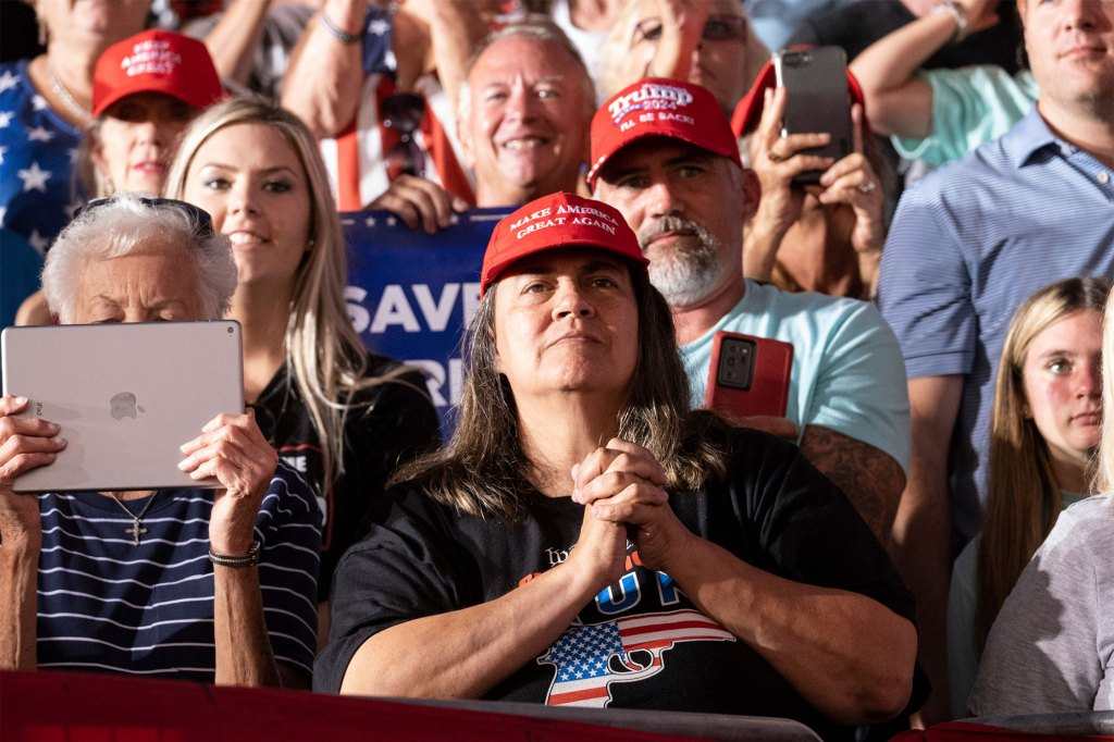 The survey was taken in late July and early August and surveyed more than 1,000 Trump supporters and 1,000 Biden backers.