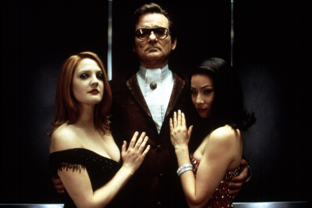 """Drew Barrymore, Bill Murray and Lucy Liu in 2000's """"Charlie's Angels."""""""