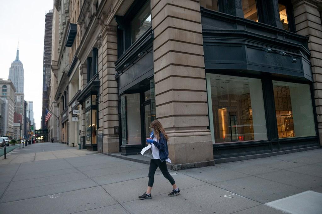 An empty corner retail space.