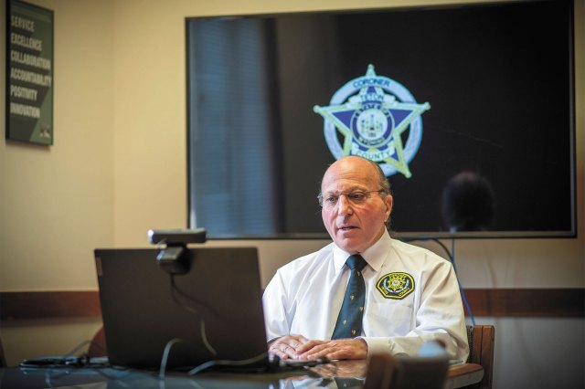 Teton County Coroner Brent Blue gives a press conference Tuesday, Oct. 12, 2021