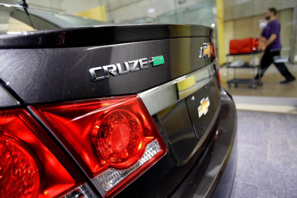 Rear of a Chevrolet Cruze Eco
