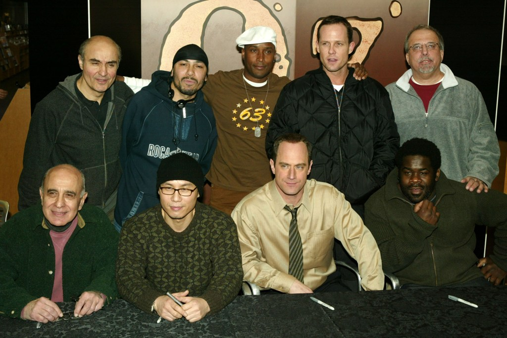 Actors Tom Mardirosian, George Morfogen, Mark Margolis, B.D. Wong, Granville Adams, Chris Meloni, Dean Winters, Bob Regadow and creator Tom Fontana appear at Tower Lincoln Center to sign copies of OZ: The Complete Third Season DVD February 24, 2004 in New York City.