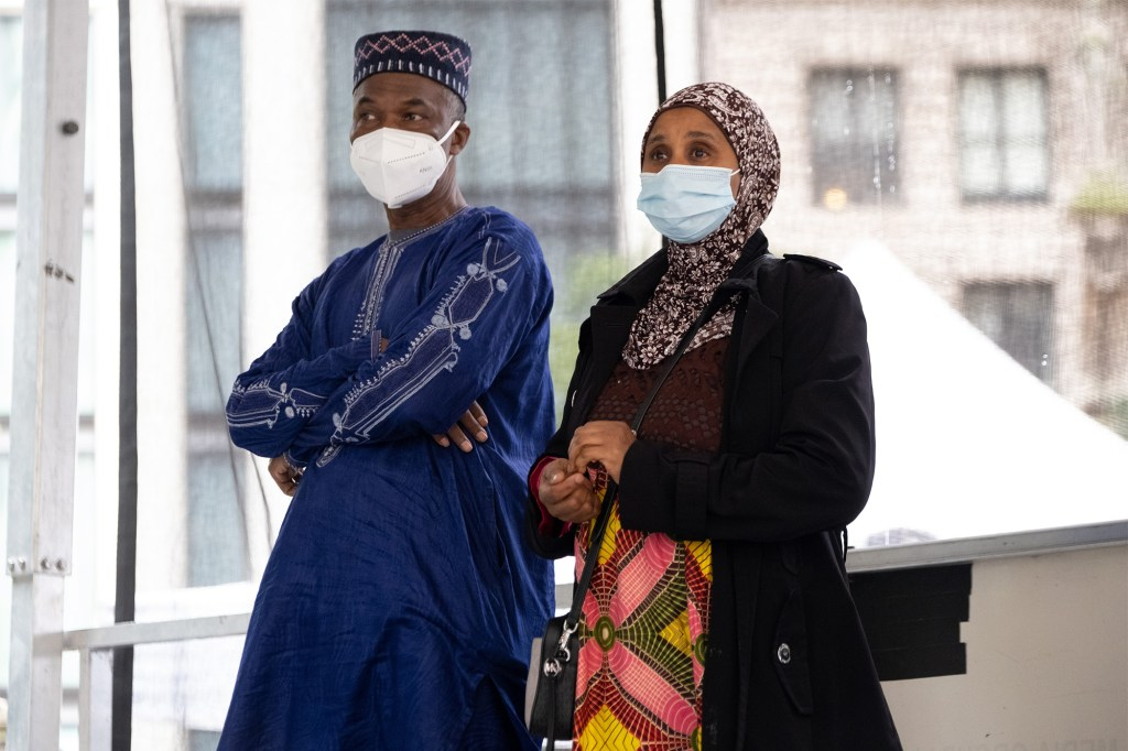 Manadou and Halimata Bah, who had one son fatally shot and another son injured in a shooting.