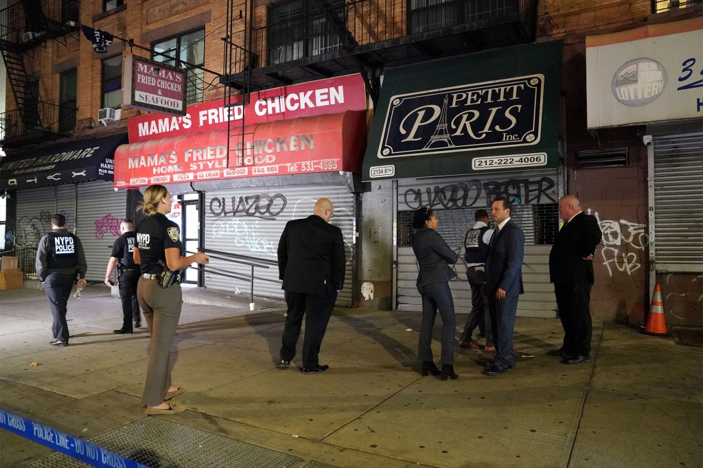 The shooting took place on Frederick Douglass Boulevard at W 116th Street.