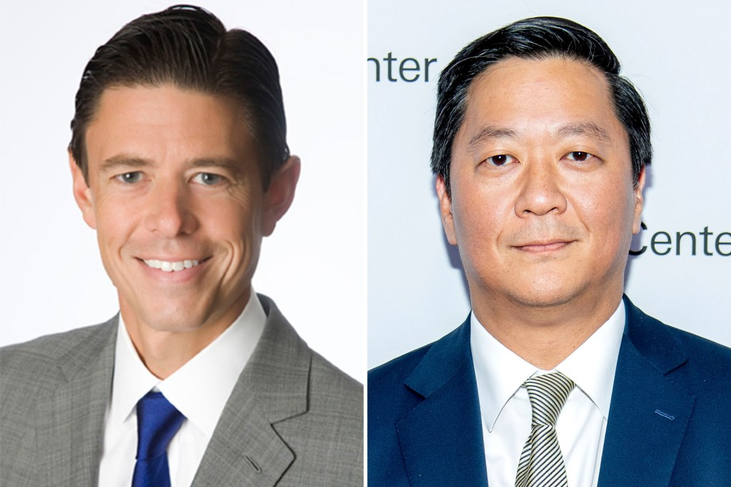 Co-presidents Scott Nuttall, left, and Joseph Bae will become co-CEOs of KKR.