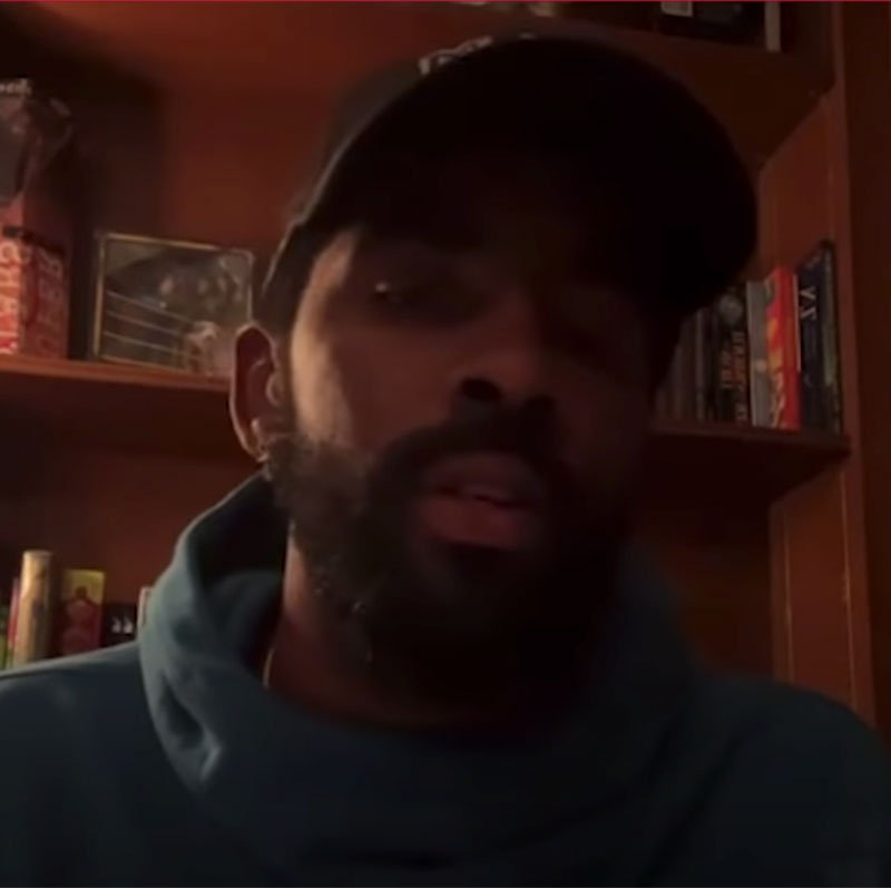 Kyrie Irving took to Instagram Live on Wednesday night to talk about the COVID vaccine.