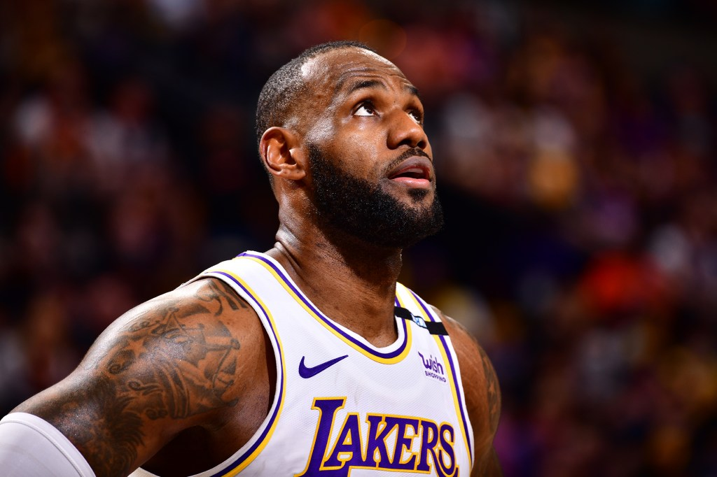 LeBron James during a Lakers game.