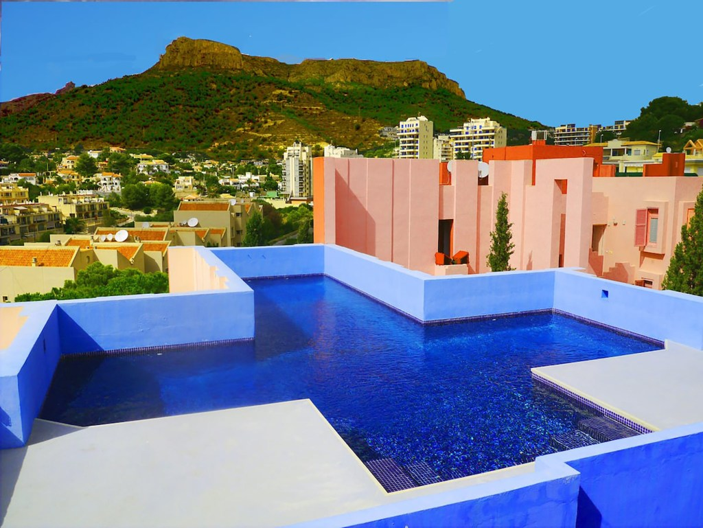 The rooftop pool.