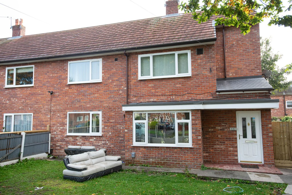 Nicola Parry's former home in Wythenshawe