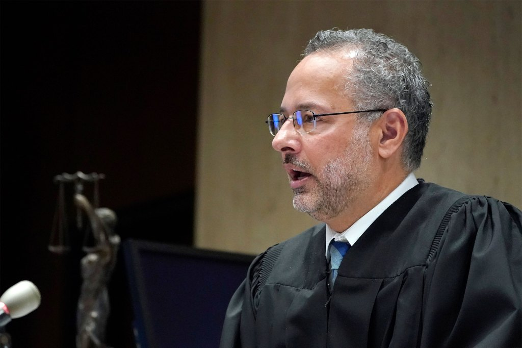 Superior Court Judge Mark S. Ali speaks, as he handed Khalil Wheeler-Weaver his 160 year sentence.