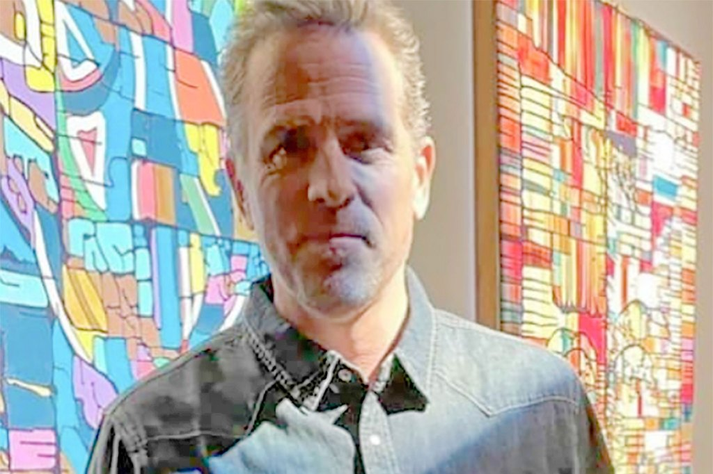 Hunter Biden at his art show in Milk Studios, Hollywood, California.
