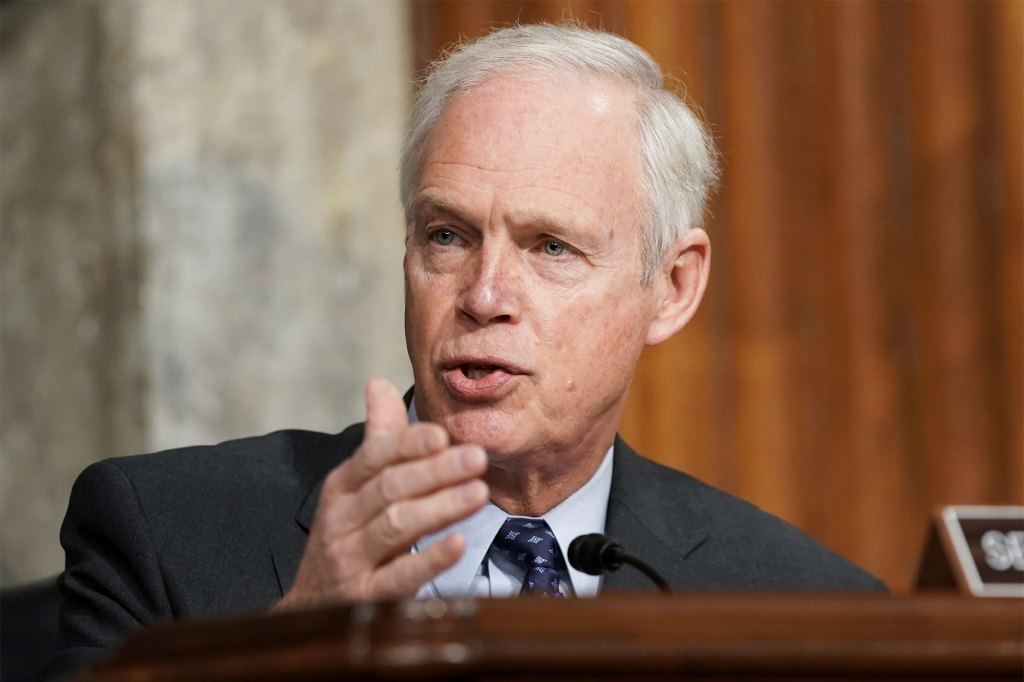 In this March 3, 2021 file photo, Sen. Ron Johnson, R-Wis., speaks at the U.S. Capitol in Washington.