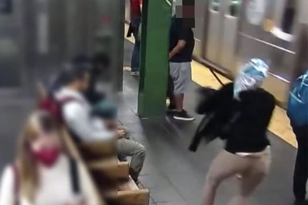 Alleged subway shover Anthonia Egegbara was charged with attempted murder after knocking a woman onto an incoming subway train in Times Square.