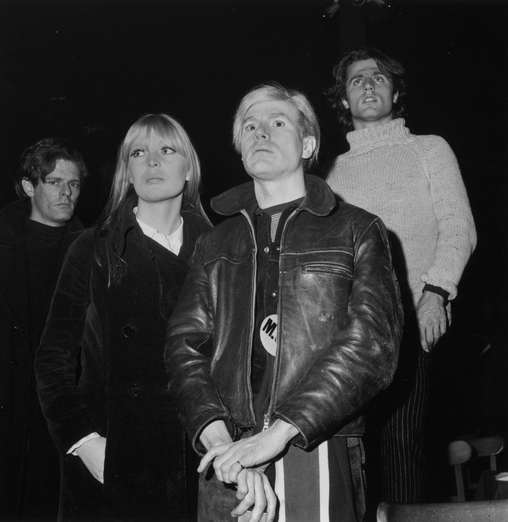 Andy Warhol (right) had to beg Lou Reed to let Nico (left) into the band.
