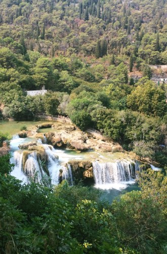 As cachoeiras do Krka National Park