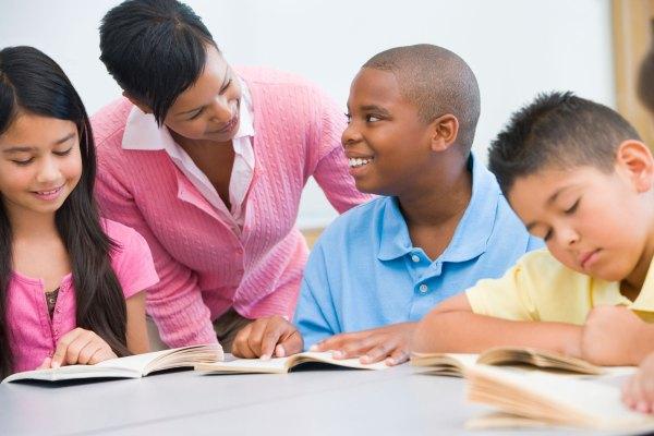 Elementary School Students Reading