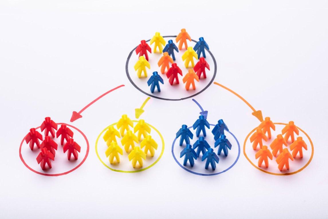 visual representation of segmenting target markets