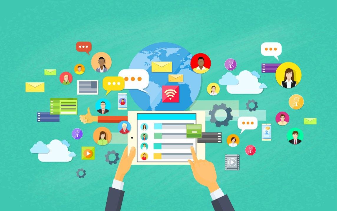 digital rendition of social media
