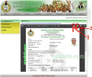 how to print nysc green card