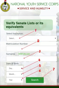 check nysc senate list