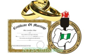 marriage documents for married Corpers