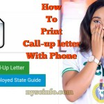 How to print nysc call-ip letter