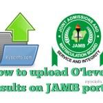 Jamb o level result upload