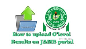 Jamb o level result upload