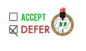 How to defer your NYSC